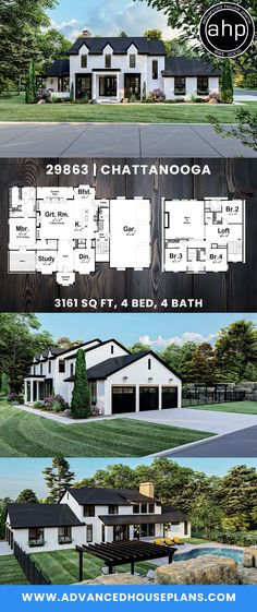 D House, Sims House, Story House, New House Plans, Dream House Plans, House Floor Plans, Dream Home Design, My Dream Home, Southern Homes