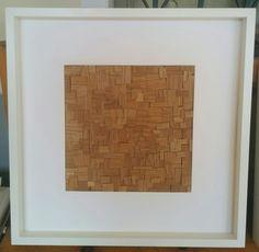 Bugie. Il quadro è composto da bugie derivanti da piallature di falegnameria.