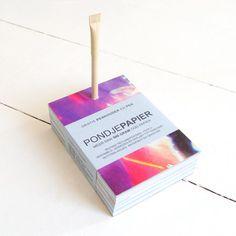 Pondje Papier - notitieblok van gerecycle reclameposters met pen - Eco webshop Ecomondo.nl