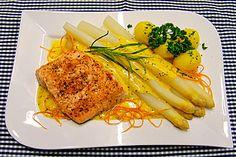 Spargel und Lachs mit Orangensauce (Rezept mit Bild)   Chefkoch.de