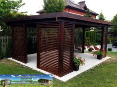 Undoubtedly astonishing what they did with this specific concept and plan. What a fantastic idea for a Patio Grill, Pergola Patio, Backyard, Grill Area, Wooden Gazebo, Wooden Garden, Olive Garden Delivery, Gazebo Curtains, Patio