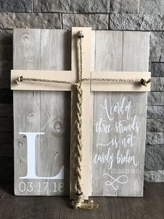 A Cord Of Three Strands Sign, A Cord of 3 Strands, Ecclesiastes Wedding Ceremony Sign, Unity Ceremony Sign, Rustic Wedding Gift A Cord Of Three Strands Sign This sentimental sign makes for a wonderful alternative to a unity candle or unity sand cer. Wedding Ceremony Signs, Unity Ceremony, Wedding Reception Decorations, Trendy Wedding, Our Wedding, Destination Wedding, Ikea Wedding, Wedding Wishes, Wedding Hair