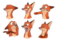 ZOOTOPIA – Character Concept Art of Nick Wilde by Cory Loftis (Character Design Supervisor). ©2015 Disney. All Rights Reserved.