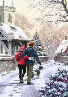 A couple with a dog - Richard MacNeil...❄