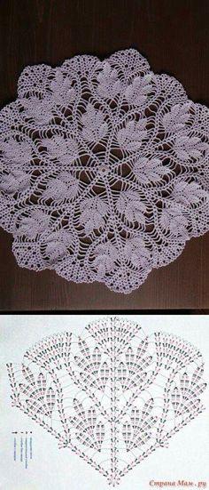 Learn to knit and Crochet with Jeanette: Patterns of crochet doilies. Filet Crochet, Art Au Crochet, Mandala Au Crochet, Crochet Doily Diagram, Crochet Motifs, Crochet Home, Thread Crochet, Crochet Crafts, Crochet Projects