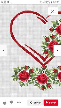 Modern counted cross stitch pattern