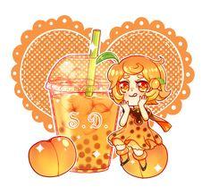 Peach Bubble Tea by Vocaloid-Mirai