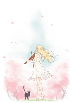 Day 13: Shigatsu wa kimi no uso, Kaori just how she is is simelar ti me...