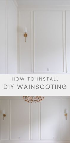 This tutorial for how to install wainscoting trim will give you the steps to create a beautiful room. While wainscoting might seem like a difficult task, we'll break down the steps so you can tackle this DIY wainscoting project easily.
