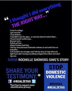 Stop domestic violence TODAY....no NOW....no RIGHT NOW!!! Join @RealZetas and stand up for the victims of Domestic Violence. Share your story. #DoSomething #SaySomething #StopDomesticViolence