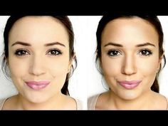 how to contour your face, she only uses highlighter,bronzer, and blush and actually tells you how to do it so it looks natural.