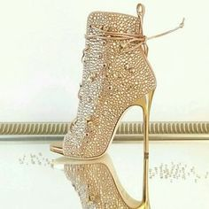 Top Quality Peep Toe Stiletto Thin High heels Cut-outs Sandal Boots Crystal Rhinestone Lace Up Short Ankle Booties Gladiator Hot Shoes, Crazy Shoes, Me Too Shoes, Shoes Heels, Dress Shoes, Stilettos, High Heels, Heeled Boots, Shoe Boots