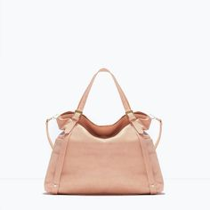SOFT SHOPPER BAG from Zara  NUDE  VDAY/BDAY gift to myself