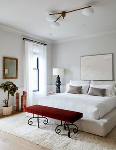 The Best Paint Color in Every Room of Athena Calderone's Brooklyn Home Master Bedroom Interior, Dream Bedroom, Home Bedroom, Vogue Home, Best Paint Colors, Minimalist Scandinavian, Vogue Living, Minimal Decor, Guest Bedrooms
