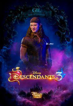 Gil, the boy who never held a grudge. Disney Descendants Dolls, Descendants Characters, Disney Descendants 3, Descendants Cast, Ghostbusters, Disney Villains, Disney Movies, Cameron Boyce Descendants, Deviantart Disney