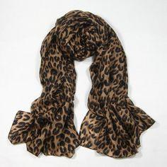 Wide large Leopard scarves for women