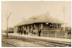 MICHIGAN CENTRAL Railroad Depot, VASSAR, 1910 RPPC Rogers Family Hometown
