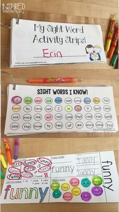Fun sight word pract