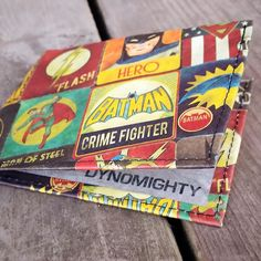Have you seen our #new  #justiceleague #Dynomighty #billfold? It's engineered to be thinner lighter and #superhero strong. #DCComics's #batman #superman and #TheFlash on the outside with sleek silver #tyvek on the inside.