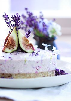 Raw Cherry Fig Lavender Honey Cake
