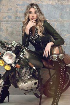 Melina Ramirez, Motorbike Girl, Olivia Culpo, Irina Shayk, Leather Pants, Punk, Sexy, Hair, Beautiful