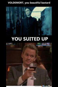 Suit up! Hahahahaha omg my 2 fav things! :D