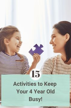 15 Activities for 4 Year Olds That Will Keep Them Busy! Four is such a special age! Check out this list of the 15 best activities for 4 year olds; it is filled with ways to bond and have a blast together! #four #thingstodo #4yearold via @rookiemoms