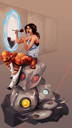Portal: Clever Girl by scriptKittie.deviantart.com on @DeviantArt