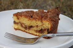Gluten Free Pecan & Chocolate Swirl Coffee Cake - Delicious golden coffee cake with a lovely crunchy topping.