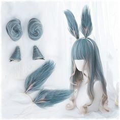 Harajuku lolita cos wig (gift Hair net) - New Site Lolita Cosplay, Cosplay Kawaii, Anime Wigs, Anime Hair, Kawaii Hairstyles, Wig Hairstyles, Cosplay Outfits, Cosplay Wigs, Hair Horn