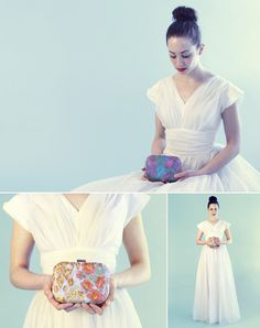 bridal clutches by ila Handbags on #100 Layercake