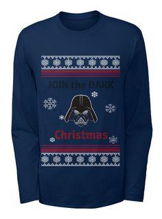 Join the Dark Christmas Star Warst Ulgy Shirt Christmas Shirts, Christmas Sweaters, Christmas Crafts, Dark Christmas, Shirt Ideas, The Darkest, Join, Navy, Long Sleeve