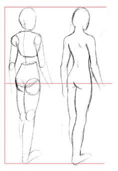 girls anatomy 3/4 back draw - Hledat Googlem