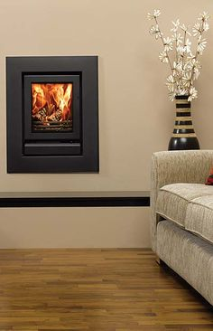Inset Log Burners, Insert Stove, Wood Burning Fireplace Inserts, Small Living Room Layout, Wall Fires, Stove Fireplace, Living Room With Fireplace, Living Room Interior, Stoves
