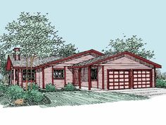 Eplans Cottage House Plan - Three Bedroom Cottage - 1471 Square Feet and 3 Bedrooms(s) from Eplans - House Plan Code HWEPL56557