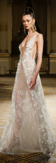 Wedding Dress by BERTA Spring 2018 runway show
