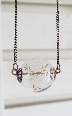 MUST HAVE Dandelion orb necklace...