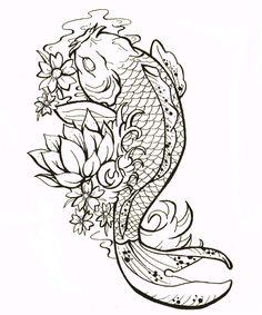 No Outline Tattoo Style | Gemma Louise Hawkins: Koi Carp