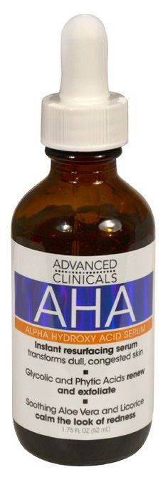 Advanced Clinicals AHA Alpha Hydroxy Acid Instant Resurfacing and Hydrating Serum 1.75 Fl Oz.