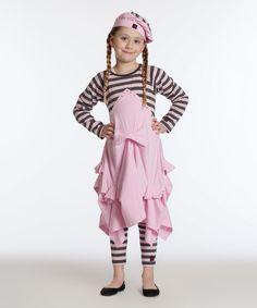 Look at this #zulilyfind! Rose & Black Stripe Vivienne Dress - Toddler & Girls by KidCuteTure #zulilyfinds