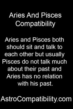 Compatibility Of Aries Woman And Pisces Man
