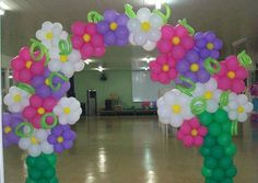 Flower Baloon Arch Decor PArty spring birthday wedding Event Spring Event Celebration Decor Quinceanera++++ ARCO DE GLOBOS HACIENDO FLORES MULTICOLOR ALEGRE DECORACION FIESTA CELEBRACION BODA CUMPLEAÑOS NIÑOS INFANTIL QUINCEAÑERA