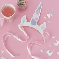 Your little girl won't be able to resist this unicorn party headband at her fairytale birthday party. Let her shine and make her feel special. Unicorn Party Hats, Unicorn Party Supplies, Unicorn Birthday Parties, Birthday Balloons, Birthday Party Decorations, Girl Birthday, Happy Birthday, Unicorn Horn Headband, Unicorn Horns