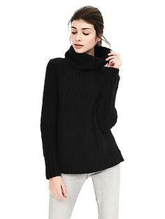Mixed-Stitch Turtleneck Sweater | Banana Republic
