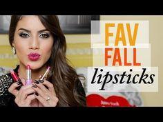 ▶ YouTube Favorite 5 lipsticks for Fall. Camila Coelho 2013. Pintalabios favoritos. Make up. Rouge à levres. www.facebook.com/bagatelleoficial Bagatelle Marta Esparza #CamilaCoelho #pintalabios #lipsticks