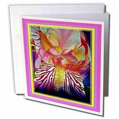 """Taiche - Acrylic Painting - Iris - Iris- flower, flowers, abstract, birth month flower, twenty fifth wedding anniversary - Greeting Cards-6 Greeting Cards with envelopes by 3dRose. $10.49. Iris- flower, flowers, abstract, birth month flower, twenty fifth wedding anniversary Greeting Card is a great way to say """"thank you"""" or to acknowledge any occasion. These blank cards are made of heavy-duty card stock with a gloss exterior and a matte interior for smudge free writing. Car..."""