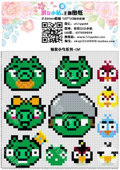 Angry Birds Perler Bead Pattern