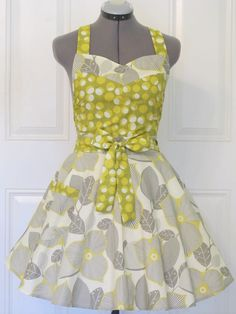 Retro Twist Sexy Elegant Full of Flounce Apron by ApronsByVittoria, $36.00