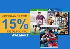 Oferta Walmart 15% de desconto em videogames.