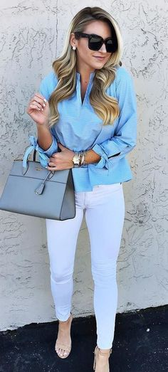 trendy summer casual style shirt + bag + pants